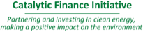 Catalytic Finance Initiative Logo